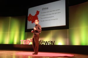 Evan speaking at TEDx